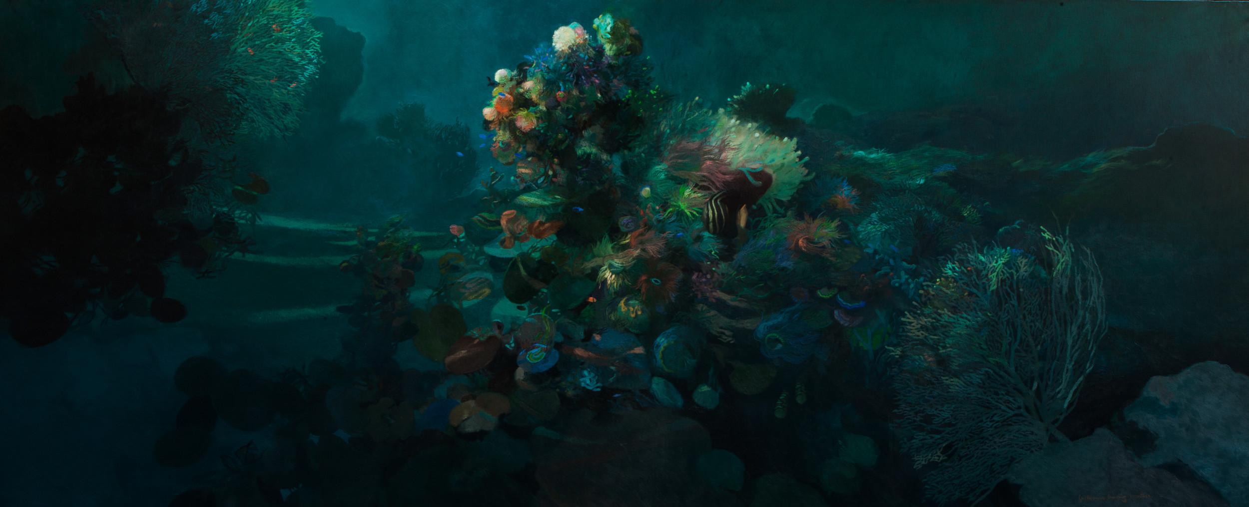 G atardecer en los corales 125x325 cm